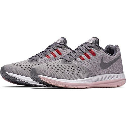 Nike Women's Air Zoom Winflo 4 Running Shoe (9, Grey)
