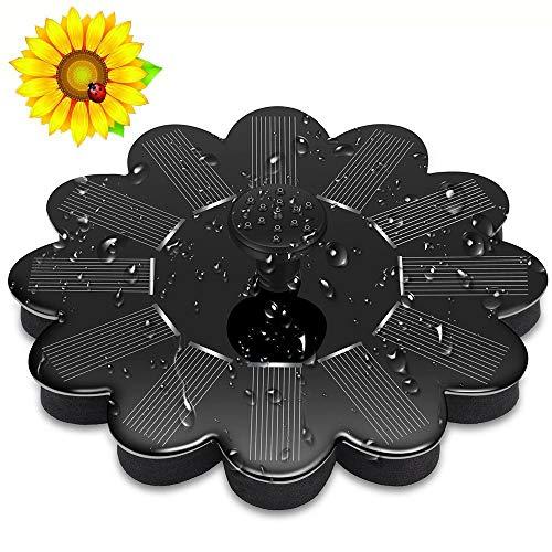 Cotify Solar Fontein Pomp, 1.4W Tuin Zonneveer, 200L / h Cirkel Drijvende Waterpomp voor Vogelbad Vijver Fontein Patio Vistank, Waterfietsen, Geen Elektriciteit Vereist Zwart
