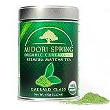 Midori Spring Polvo de Matcha para bebidas, repostería y té Ceremonial Esmeralda 100g