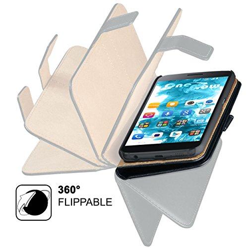 MoEx® Booklet mit Flip Funktion [360 Grad Voll-Schutz] für Huawei P9 Plus | Geldfach und Kartenfach + Stand-Funktion und Magnet-Verschluss, Schwarz - 6