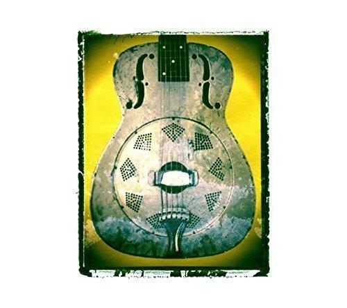 Resonator Dobro Guitar art music print / Guy Gift / Rock n roll art / music gift idea -  Guitar Art Print - Music Gift Shop
