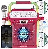 Singing Machine - Máquina de karaoke con Bluetooth CDG, compatible con tableta, rosa
