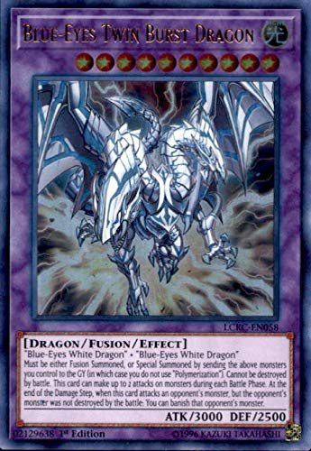 Yu-Gi-Oh! - Blue-Eyes Twin Burst Dragon - LCKC-EN058 - Ultra Rare - Unlimited Edition - Legendary Collection Kaiba Mega Pack