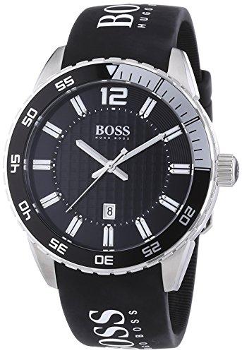 Hugo Boss Herren-Armbanduhr XL Analog Quarz Silikon 1512888