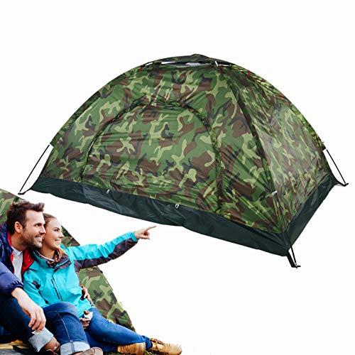 Filfeel Campingzelt, Outdoor Camping Zelt Camouflage 2 Personen UV Schutz wasserdichte Familie Reise Dome Wasserdicht Festival Wandern Klappzelte mit Tragbaren Tragetasche