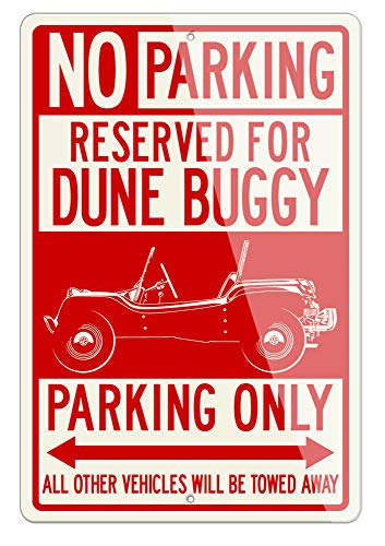 1964 Meyer Manx Buggy Reserved Parking Only Aluminum Sign - 8 by 12 inches (1, Small) - Great American Classic Car Gift