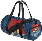 Gym Duffel Bag Hawaii Pele Flower Training Duffle Bag Ronde Voyage Sport Sacs pour Hommes Femmes