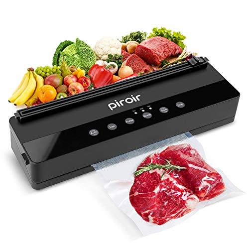 Piroir Vakuumiergerät Automatischer Vakuumierer für die Konservierung von Lebensmitteln Eingebautes Schneidegerät Starter Kit LED-Anzeigeleuchten Trockene & Feuchte Lebensmittel Modi Kompaktes Design