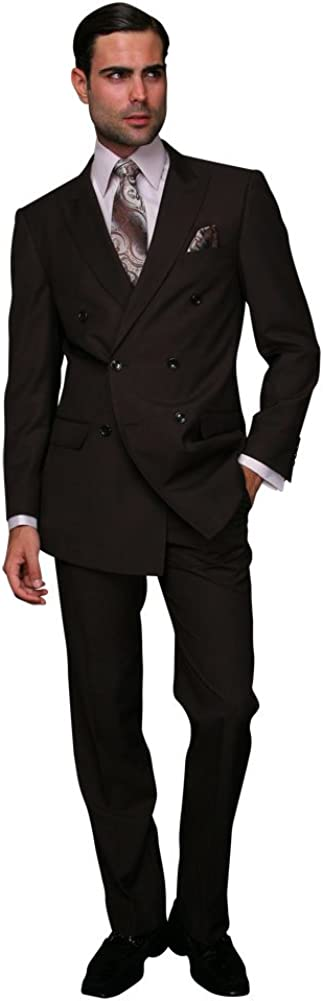 Statement Double Breasted Suit Brown