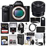 Sony Alpha A7 II Digital Camera Body with FE 50mm f/1.8 Lens + 64GB Card + Backpack + Flash + Battery & Charger + Kit