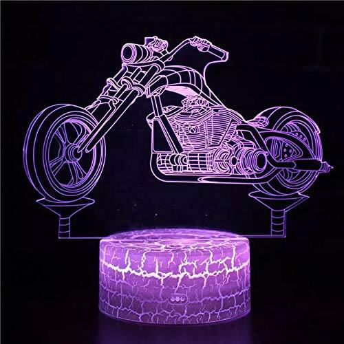 Lámpara de atmósfera 3D de coche de época lámpara de mesa de interfaz USB lámpara de mesa de decoración de regalo de vacaciones de luz de noche 3D