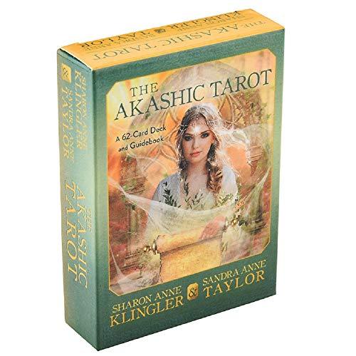 El Tarot Akáshico Una baraja de 62 Cartas y una guía Tarjetas de Sharon Anne Klingler Crystal Spirits Oracle The Divine Feminine
