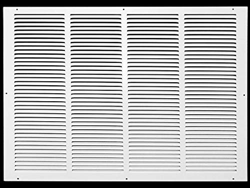 24'w X 18'h Steel Return Air Grilles - Sidewall and Ceiling - HVAC Duct Cover - White [Outer Dimensions: 25.75'w X 19.75'h]