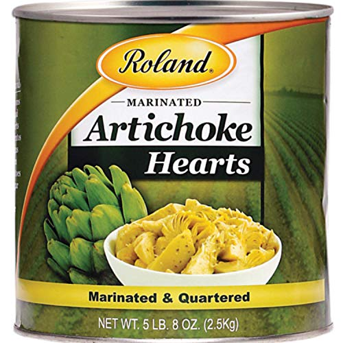 Roland Foods Marinated Quartered Artichoke Hearts, Specialty Imported Food, 5 Lb 8 Oz Can