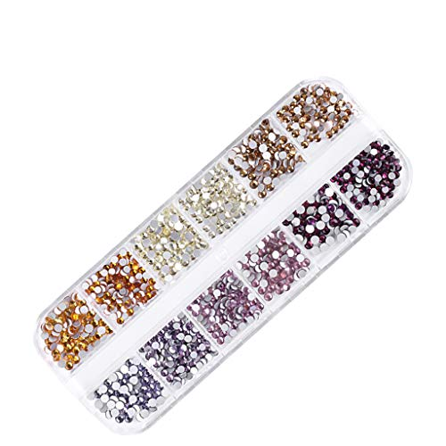 Qiuday Nail Strass Nail Cristal Gems Glitter Nail Art Accessoires Décorations Maquillage DIY Artisanat Nail Art Set Strass Décoration
