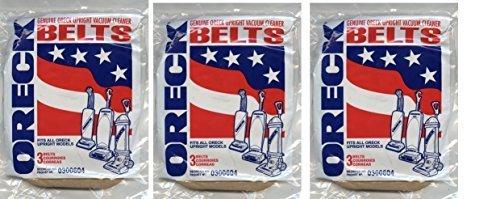 Oreck XL Genuine 3-pack Upright Vacuum Belts 0300604 (3 Packs = 9 Belts)