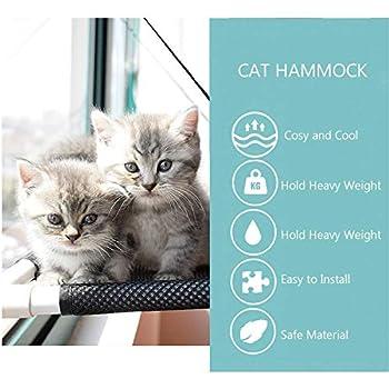 QASIMOF Hamac Chat Hamac Chat Fenetre Couchage Et Mobilier pour Chats Lit De Siège De Fenêtre Chat avec Ventouses à Bouton, Siège De Repos De Chat Po (Pink)