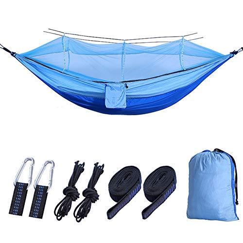 TZTED Flying Tent Hamac étanche avec moustiquaire, pour 1 Personne, Tente  Suspendue, pour Camping | Inclus : Sangles pour Arbre et Fermeture éclair  ...