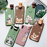 Aplicar para iPhone 7 8 Plus funda iphone 11 pro max caso kawaii panda gato perro silicona cubierta para iphone se 2020 x xr xs 6s caso femenino