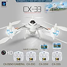 DECOMIL Tricopter Drone 720P HD Camera WiFi FPV   Automatically Take-Off & One Key Landing