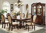 Inland Empire Furniture's Chateau De Ville Espresso Set 7 Piece with Hutch/buffet