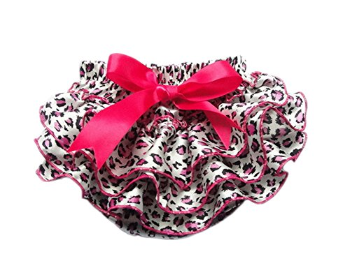 DELEY Toddler Filles Leopard Imprimer Pettiskirt Ruffle Bloomers Panties Nappy Couvre-Couches Rose M
