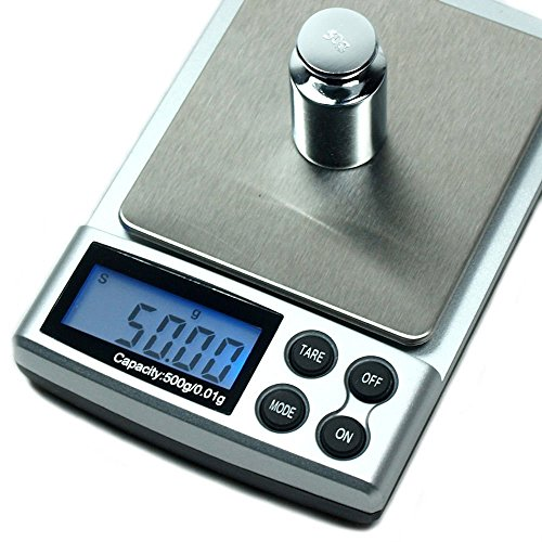 Jewlery Scale, 0.01g - 500g Digital LCD Display Pocket Weighing Mini Scales For Gold Kitchen Grain Scale Gram G/OZ/CT/GN-