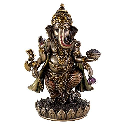 Ganesha Idol, gegossene Bronze, Skulptur, Figur, von Hindu-Gott Ganesha Statue Diwali Geschenk Lord