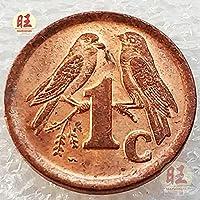 記念コインの絶妙なコレクション 1994年南アフリカ1セントアニマルブロンズスモールコイン、スズメ、2羽の鳥の収集可能なグッドラックパールコイン15mm