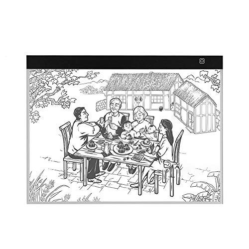 Led Tableta A3 Led Light Box Tracer Usb Powered Tracing Light Pad Board 3 Niveles De Brillo Ajustable Para Artistas Dibujo Sketching Tracing