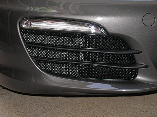 Zunsport Compatible with Porsche Boxster 981 - Outer Grill Set (Without Parking Sensors) - Black Finish (2012-2016)
