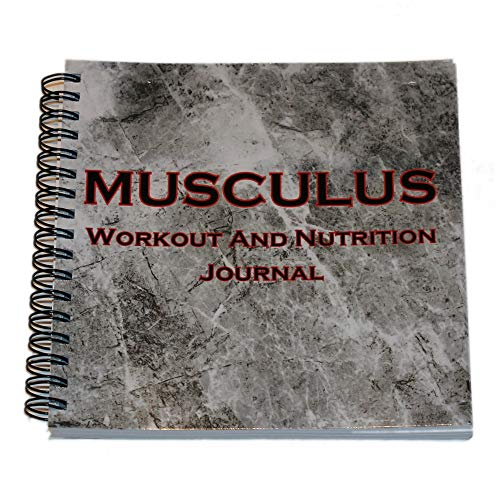 """Musculus - The Workout and Nutrition Journal - Fitness Journal - Workout Log - Fitness Planner - Daily Planner - 6"""" X 6"""" - Laminated Cover"""