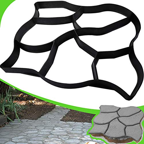 CJGQ Walk Maker Reusable Concrete Path Maker Molds Stepping Stone Paver Lawn Patio Yard Garden DIY Walkway Pavement Paving Moulds (Oversized)