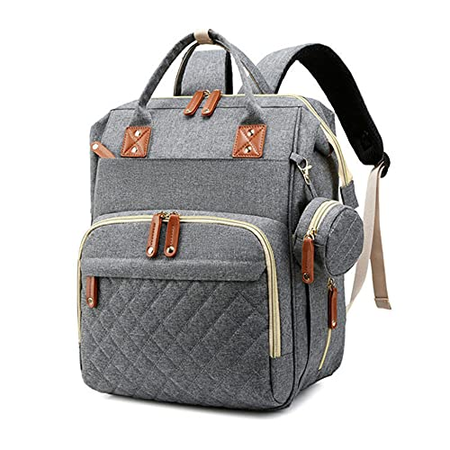 Diaper Bag Backpack, Portable Foldable Waterproof, Crib Bed, Changing Station, Unisex Baby Bag, Travel-5_322342cm