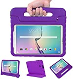 NEWSTYLE Tab E 9.6 Case - Shockproof Light Weight Protection Handle Stand Kids Case for Samsung Galaxy Tab E/Nook 9.6 Inch 2015 Tablet WiFi and Verizon 4G LTE Version (Purple) Not Fit Other Tablet