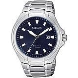 Citizen - Reloj Eco Drive Super Titanium para Hombre Esfera Azul BM7430-89L