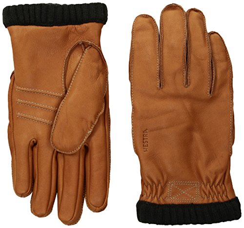 HESTRA Deerskin Primaloft Rib Handschuhe, Cork, EU 9