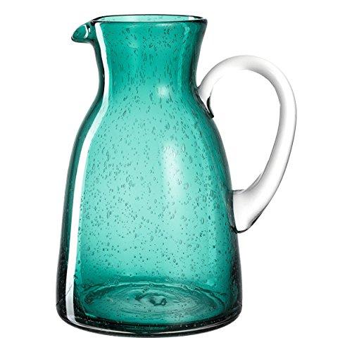 Leonardo Burano Krug Laguna, 1,7 l, handgefertigt, türkisfarbenes Schaumglas, 034753