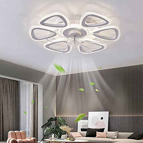 ACCZ Ventilador de Techo, Ventilador Techo con Luz Regulable, Ventiladores de Techo con Velocidad Ajustable de 60 W con Control Remoto, 3000K-6500K, Ventilador Silencioso para Dormitorio