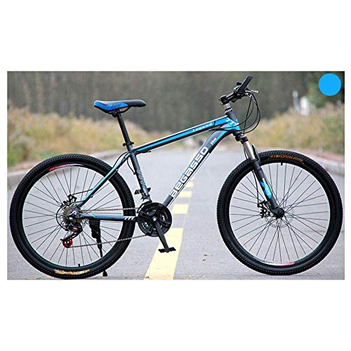 Chenbz Deportes al Aire Libre de 26' Bicicletas de montaña Unisex 2130 plazos de envío Bicicleta de montaña, HighCarbon Marco de Acero, Gatillo Shift (Color : Blue, Size : 24 Speed)