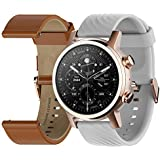Moto 360 3rd Gen 2020 - Wear OS by Google - Touch Screen - Luxury Stainless Steel Smartwatch - Genuine Leather and High-Impact Sports Bands - Gold