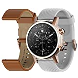 Moto 360 3rd Gen 2020 - Wear OS by Google - The Luxury Stainless Steel Smartwatch with Included Genuine Leather and High-Impact Sports Bands - Gold