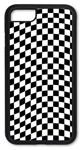 Cell Phone Cover - Slim Fit - Compatible with Apple iPhone 7 and iPhone 8 - Checkered Flag