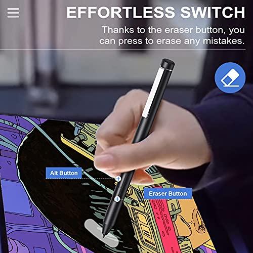 TiMOVO USI Stylus Stift Kompatibel mit Chromebook, 4096 Druckstufen Eingabestift Palm Rejection Chromebook Duet, HP Chromebook x360 12b/14c, Chromebook Flip C436/C536/CX5, Galaxy Chromebook, Grau - 3