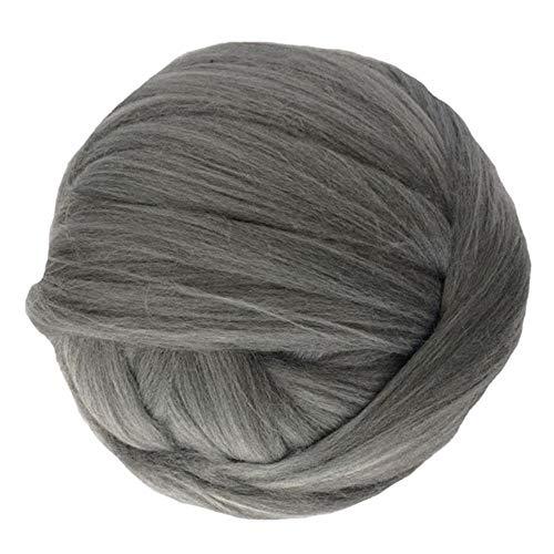 YOTONG 1000G Super Chunky Wool Yarn Bulky Roving Yarn Hand Arm Knitting Throw Blanket Yarn Home Wall Decorative Yarn,middle grey