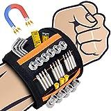 Sinwind Bracelet Magnétique Réglable avec 15 Aimants, Bricolage Bracelet Magnetique Cadeau Homme, pour Les Vis De Maintien, Clous, Trépans de Forage, 2020 Calendrier De L'avent Cadeaux Noel Homme