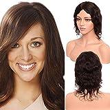 S-noilite brasilianisches Echthaar-Perücke, natürliches glattes Haar, Mittelteil ohne Spitze,...