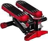 Multifunción Mini Hidráulico Fitness Stepper con Pantalla LCD Máquina Aeróbicos Cardio Ejercicio Entrenador Entrenador Ejercicios de Resistencia Carga 150KG (Gris) -Rojo
