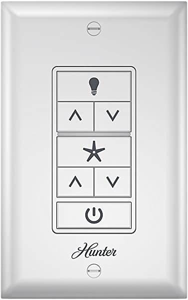 Hunter 99375 Universal Ceiling Fan Wall Control Universal Ceiling Fan Wall Controlwhite