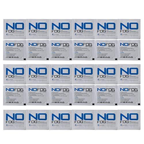 30 toallitas húmedas antiempañamiento para lentes prehumedecidas y antivaho envueltas individualmente desechables para gafas